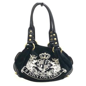 Small black and cream Juicy Couture handbag